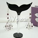 Wholesale black crystal garnet earrings