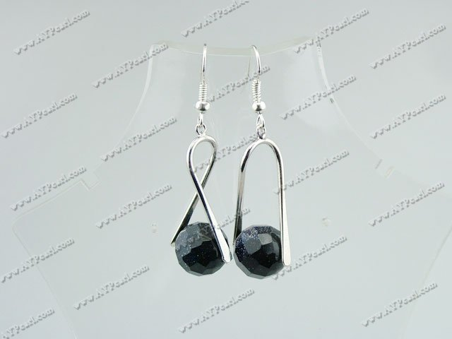 blue sandstone earrings