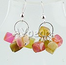 Wholesale earring-three colored jade earrings