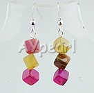 Wholesale Gemstone Jewelry-three colored jade earrings