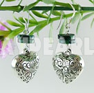 Wholesale phoenix earrings with tibet silver heart shape accessories