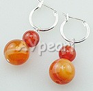 Wholesale red carnelian earrings