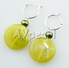 pearl peridot jade earrings