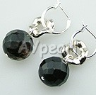 Discount black cherry quartz earrings