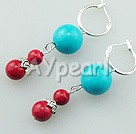 Wholesale Gemstone Jewelry-turquoise alaqueca earrings
