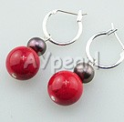Wholesale Gemstone Jewelry-pearl alaqueca earrings