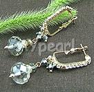 Tjeckiska kristall örhängen