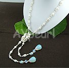 Wholesale pearl crystal opal necklace