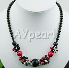 black agate alaqueca necklace
