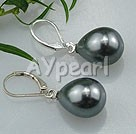 Wholesale drop shaped seshell pearl earrings