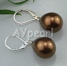 drop shaped seshell pearl earrings