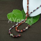 Wholesale pearl red jasper necklace