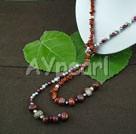 pärla röd jaspis halsbandet