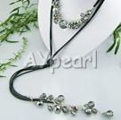 konstgjorda kristaller halsband