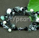Wholesale pearl crystal black shell bracelet
