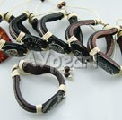 bull bone leather string bracelet(6 pcs)