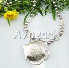 perle tibet sølv kjede