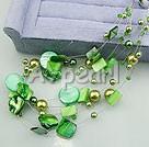 akryl pärla skal halsband