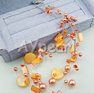 acrylic pearl shell necklace