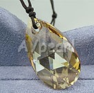 austrian angel's tear crystal pendant