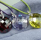 Wholesale Austrian Jewelry-three-color zircon pendant(3 pieces)