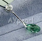 Wholesale Austrian Jewelry-925 silver austrian crystal necklace