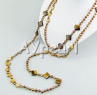 Wholesale pearl shell tiger eye necklace
