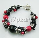 Wholesale black agate red alaqueca bracelet
