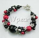 Wholesale black agate red alaqueca bracelet