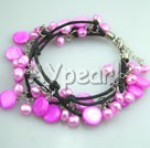 Wholesale pink pearl shell bracelet