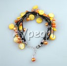 Wholesale yellow pearl shell bracelet