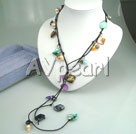 multi color pearl shell necklace