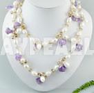 pärla kristall halsband
