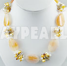 Wholesale pearl agate crystal necklace