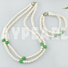 Wholesale pearl aventurine necklace