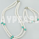 Wholesale pearl turquoise necklace