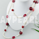 gemstone pearl necklace