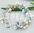 pärla och kristall armband