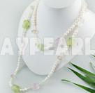pärla och ädelsten halsbandet