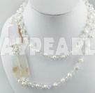 pärla agat kristall halsband