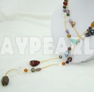 kristall agat shellnecklace