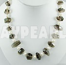 pearl smoky quartz  necklace