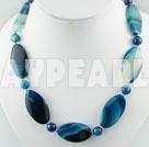 blå agat halsband