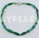 mångfasetterade grön agat halsband