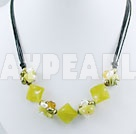 Wholesale pearl crystal peridot jade necklace