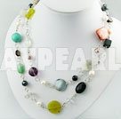 Discount multi-stone crystal necklace