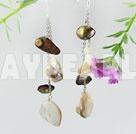 Pearl kristall örhänge