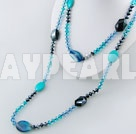 crystal agate turquoise necklace