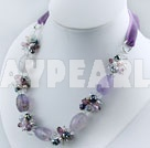 Wholesale crystal agate necklace