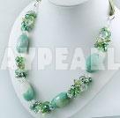 pärla mångfasetterade agat kristall halsband